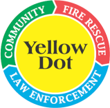 yellow dot decal
