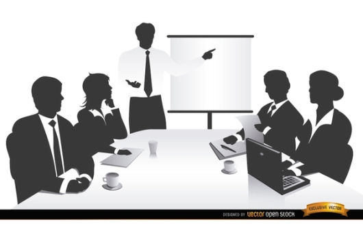 business-meeting-people-silhouettes-free-vector